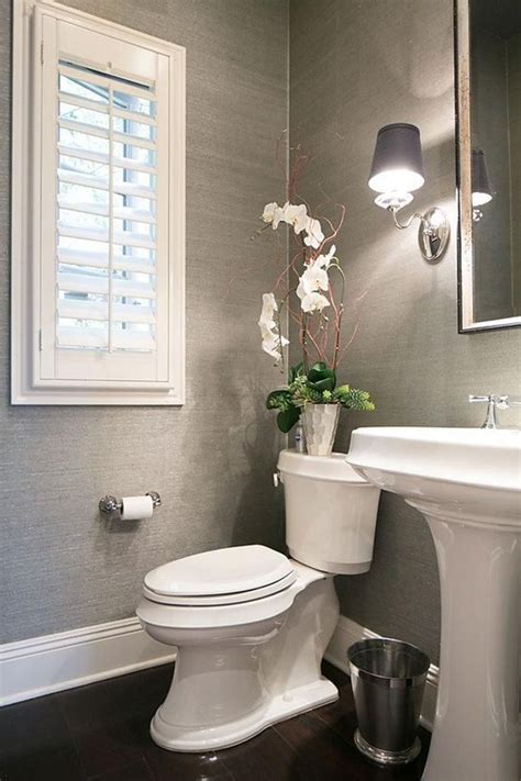 Decorating Ideas Powder Room by 40 Gray Half Bathroom Decorating Ideas On A Budget