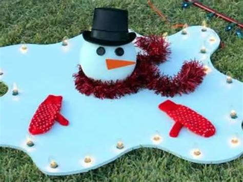 homemade outdoor christmas decorations youtube
