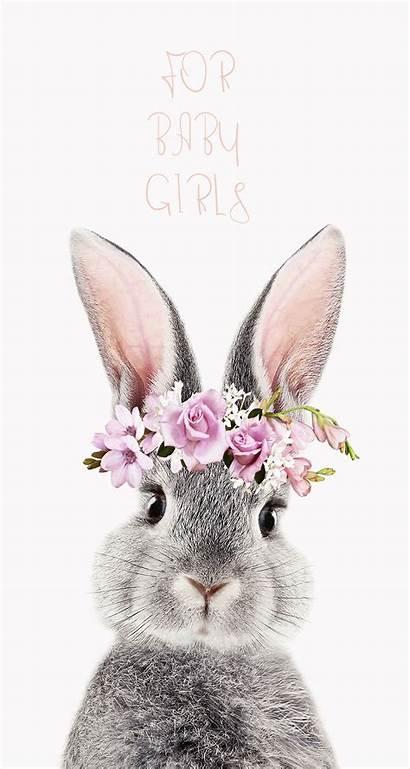 Bunny Rabbit Printable Animals Clipart Flower Painting
