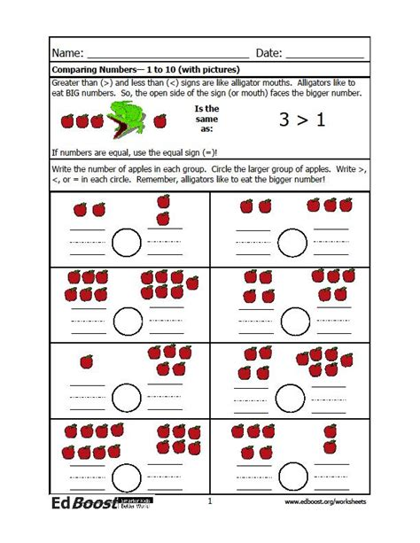 comparing numbers     pictures edboost