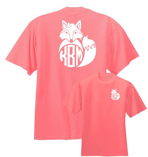 preppy fox monogram shirt