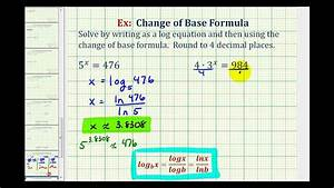 Ex  Change Of Base Formula To Solve Basic Exponential Equations
