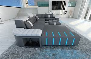 Led Sofa : big sectional leather sofa bellagio u with led lighting ~ Pilothousefishingboats.com Haus und Dekorationen