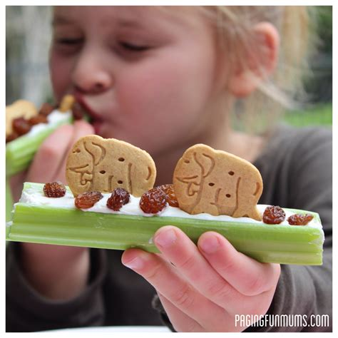 healthy fun snacks for preschoolers healthy amp after school snack celery animal snacks 262