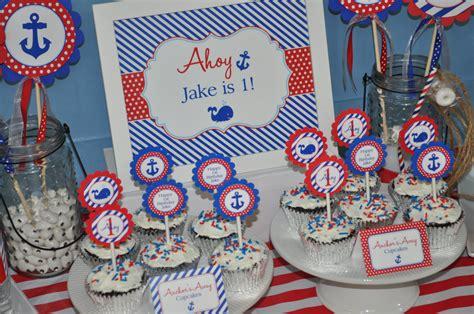 nautical st birthday cupcake toppers boys st birthday