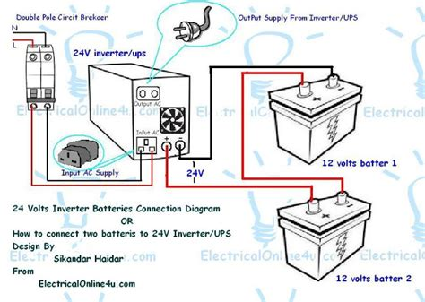 how to connect two batteries to inverter 24 volts ups 2