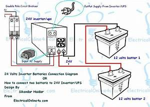 How To Connect Two Batteries To Inverter  U0026 24 Volts Ups 2