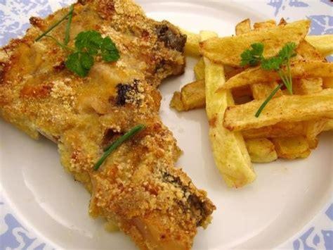 cuisiner cotes de porc côtes de porc moutardées au parmesan recette de côtes de