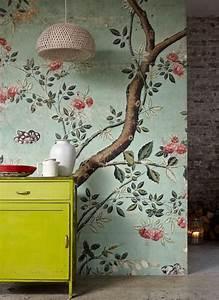 Papier Peint Fleuri : le papier peint en 52 photos pleines d 39 id es ~ Premium-room.com Idées de Décoration