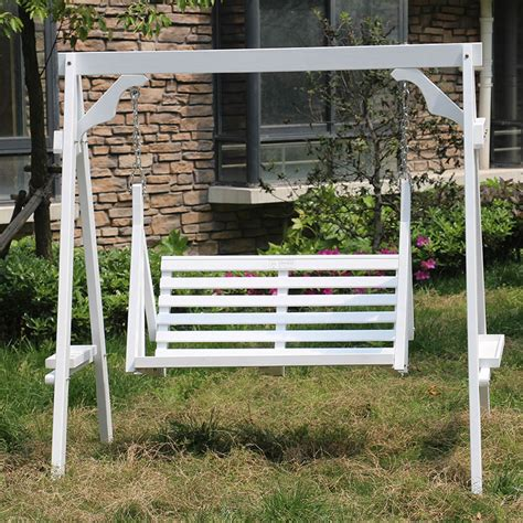 Cheap Garden Swing Chairs by Wooden Garden Swings Promotion Shop For Promotional Wooden