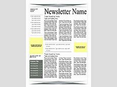 Green Gray 4page Newsletter – Word Templates – Microsoft