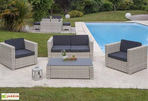 Salon de Jardin Ru00e9sine Tressu00e9e Oceane - 4 piu00e8ces - DCB Garden