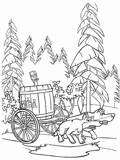 Coloring Forest Pages Nature Printable