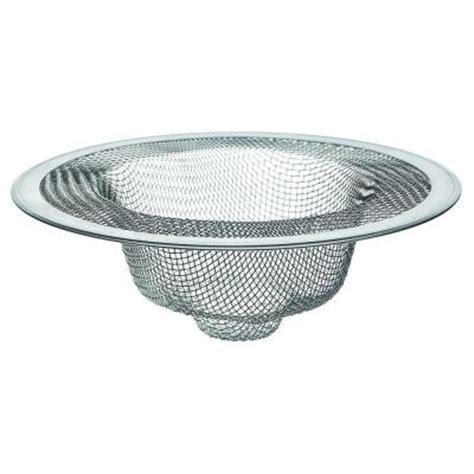 mesh sink strainer home depot 4 1 2 in mesh kitchen sink strainer in stainless steel