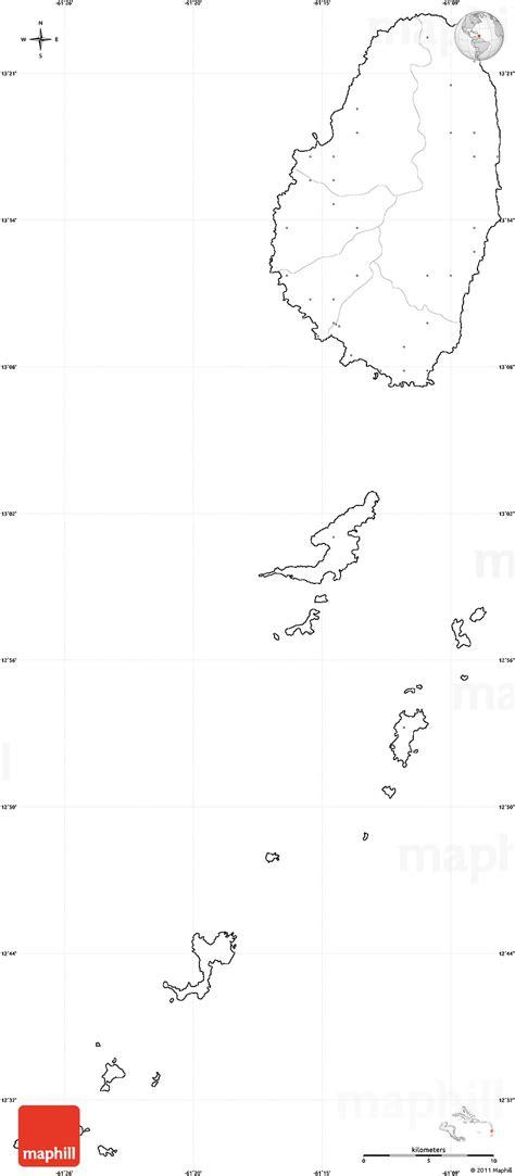 blank simple map  saint vincent   grenadines