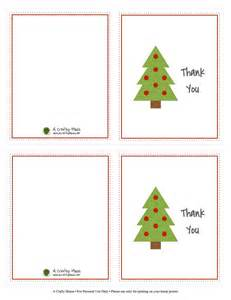 Christmas Thank You Cards Free Printables
