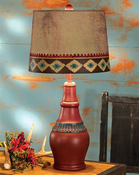 Rustic Table Lamps: Red Canyon Southwest Table Lamp Black