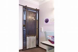les nouvelles portes coulissantes cote maison With porte coulissante style industriel