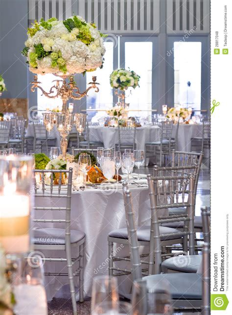 Wedding Tables And Decorations Stock Photo Image of