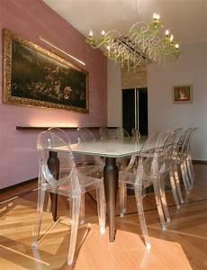 chaises transparentes pour une salle a manger contemporaine With meuble salle À manger avec chaises salle À manger transparentes