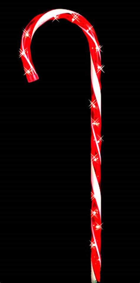 lighted candycane yard stake