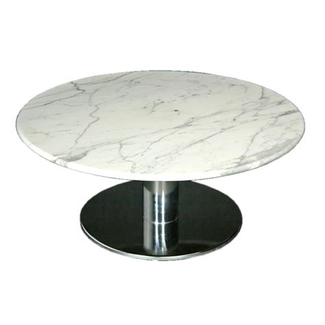 round marble table base round marble and chrome base coffee table at 1stdibs