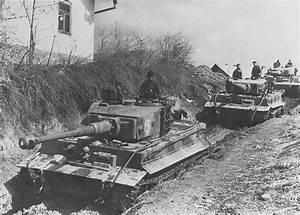 German Panzer column comprising Tiger tanks of 506.Heavy ...