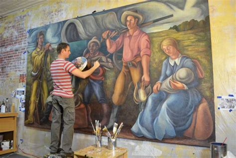 alvin post office restored new deal era mural in alvin called a true