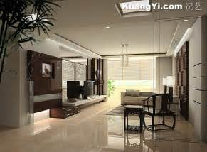 modern interior home design 效果图 现代中式客厅装修效果图 况艺装修图片