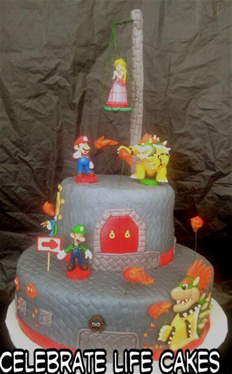 bowsers castle cake celebrate life cakes