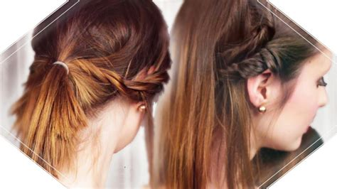 3 Schnelle Und Einfache Frisuren I Mittellange Bis Kurze