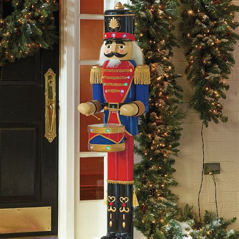 nutcracker drummer outdoor christmas decorations traditional holiday accents and figurines