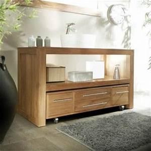 Meuble De Salle De Bain En Solde : meuble salle de bain en teck layang solo achat vente ~ Edinachiropracticcenter.com Idées de Décoration