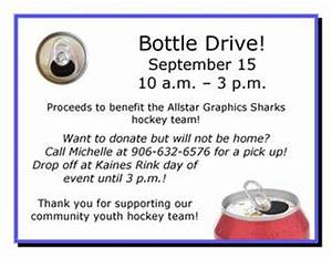 31 Fundraiser Flyer Bottle Drive Flyer Revised By Bouschor Issuu