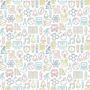 Seamless Vector School And Education Background Stock ...
