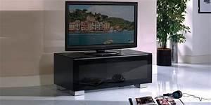 Télé 110 Cm : munari ge110 noir meubles tv munari sur easylounge ~ Teatrodelosmanantiales.com Idées de Décoration