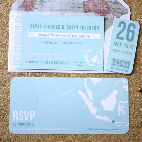 boarding pass wedding invitations marina gallery