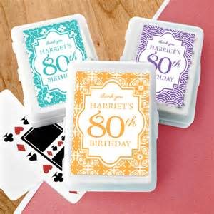 80th Birthday Party Favor Playing Cards