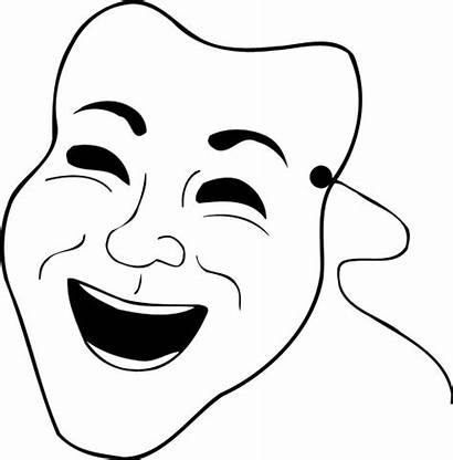 Mask Comedy Clipart Face Clip Masks Laughing