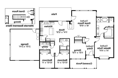 one level house plans with porch ranch house plans alpine 30 043 associated designs