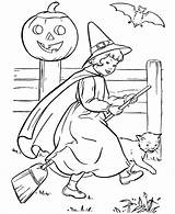 Witch Coloring Printable Pages Young sketch template