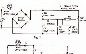 Ac Mains Lamp Flasher Circuit Diagram