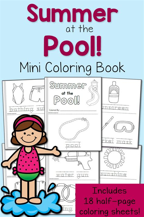 summer coloring pages   pool mamas learning corner