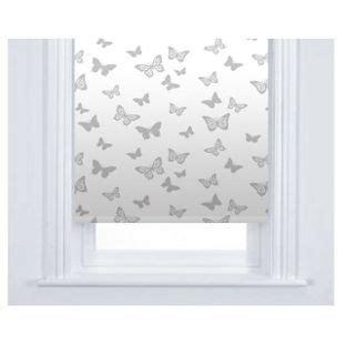 butterfly roller blind white  white