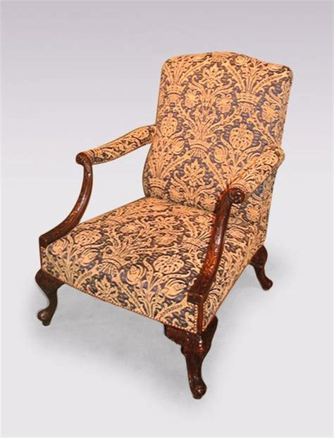 a mid 19th century chippendale style mahogany gainsborough