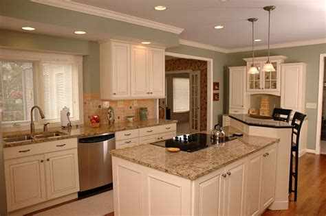 island cabinets two different color kitchen cabinets different colors of
