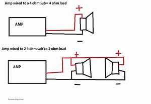 a little lesson on rms power of amplifiers and subs also With 4 ohm sub wiring