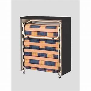 Lit Dans Armoire : lit d 39 appoint pliant escamotable dans meuble achat vente ~ Premium-room.com Idées de Décoration