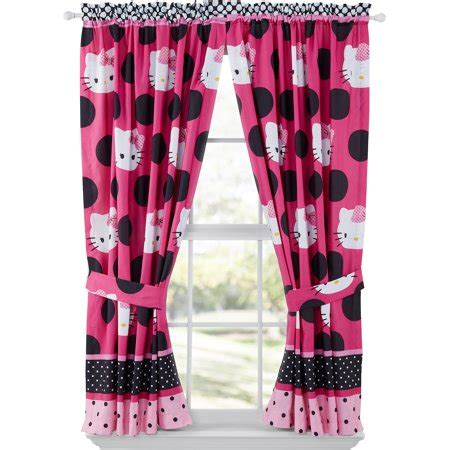 Hello Bedroom Decor At Walmart by Hello Dotted In Pink Bedroom Curtain Panels