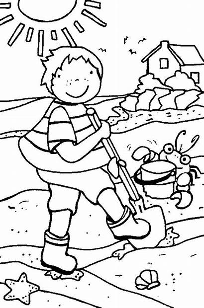 Coloring Summer Pages Beach Funny Printable